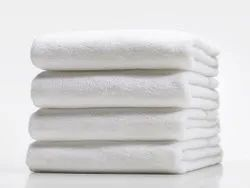 Sybaritic Cotton Hotel Style White Bath Towels, Rectangular, 450-550 GSM