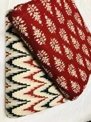Sanganeri hand block printed pure cotton fabric.