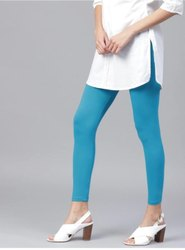 Cotton Lycra Ankle Leggings