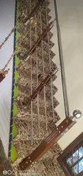 SS Wooden Pillar Railing