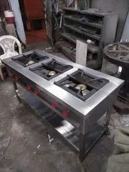 Commercial Three Gas Burner, For Hotel