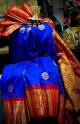Festive Wear Blue Gadwal Silk Saree