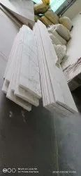 White Cut-to-size Marble Skirting Work, Flooring, Thickness: 22 mm