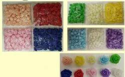 礼品包混合泡沫玫瑰花,尺寸:6厘米,包装尺寸:100件一包