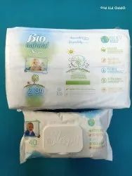Bamboo Cotton Disposable Baby Diapers, Age Group: Newly Born, Packaging Size: 3-6 Kg - 34 Count