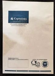 Kraft Paper Eco Friendly Packaging Envelopes, For Courier, Thickness: 110