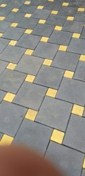 Concrete Square Car Parking Paver Block, Thickness: 60 Mm