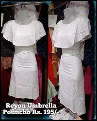 Cotton Casual Wear Ladies reyon Umbrella Pouncho Kurtis, Wash Care: Machine wash