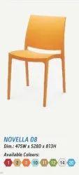 Nilkamal Novella 08 Orange Chair