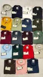 Regular Fit Men 4 Way Lycra Shirts
