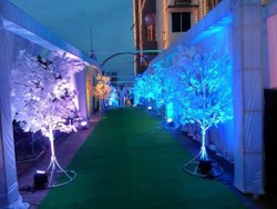 White Iron Artificial Wedding Maple Tree, For Decoration