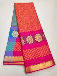 Pure emboss silk Saree with low price, 6.3 m (with blouse piece)