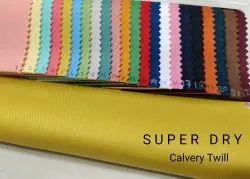 Cotton Cavalry Twill Fabrics, Plain/Solids, Multicolour
