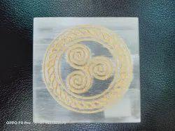 Selenite Carving Square Plate