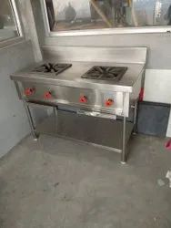Steel Two Burner Gas Stove, Model Name/Number: T2B