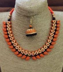 Multicolor Fair eDeals Teracotta Fashion Handmade Neckpiece, Basic