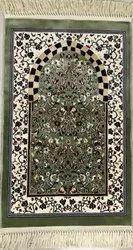 Green Velvet Turkey Janamaz Carpet, Packaging Type: Packet, Size: 70x120 Cm