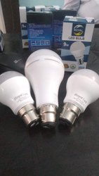 Aluminum Round Royal Led AC DC Bulb, For Home, Base Type: B22