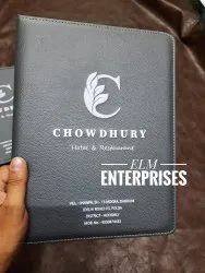 Grey Leather Hotel Menu, For Hotels