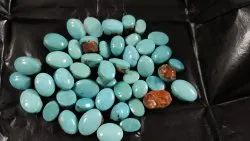 Blue Natural Firoza Turquoise Stone, For Jewelry Astrology Healing
