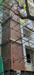 Rustic old brick tiles