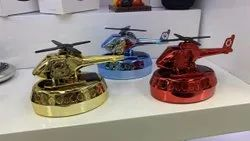 Helicopter Perfume With Solar Fan And Liquid Perfume