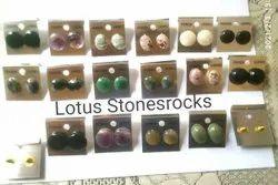 Semiprecious Stones Stud Earrings