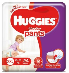 Cotton Disposable Huggies Wonder Diapers Xxl 22, Age Group: 1-2 Years
