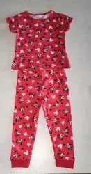 Cotten lycra,viscose Half Sleeve Girls Pants And Tops, 5 - 7 Years