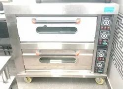 Electric Large Double Deck 4 Tray Oven