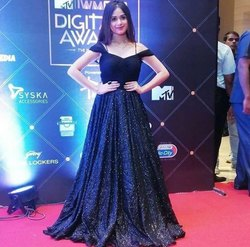 Party Wear Black Evening Gown