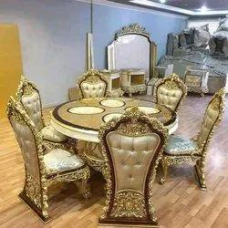 Dimensions: 3x3 150 Kg Royal look Daining table