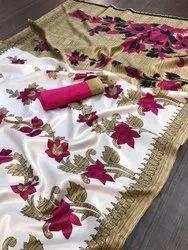 Ligalz presents art silk saree with blouse