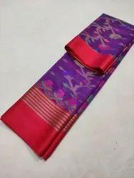 6.3 m (with blouse piece) Cotton silk Dhakai Saree