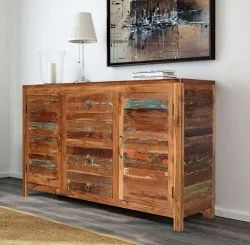 Distressed Antique JAE Wooden Cabinet Distress, For Home