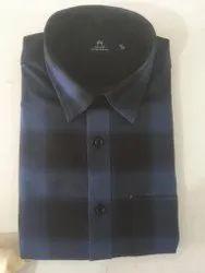Checked Blue Mens Casual Shirt