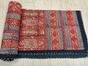 Hand Block Printed Kantha Quilt