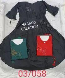 Embroidered Ladies Cotton Kurti