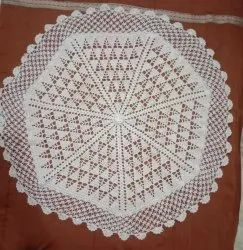 White Cotton thread Dining Table crochet mat, Size: 35 Inches Diameter