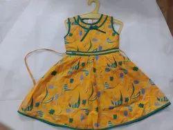 Cotton Regular Wear Kids Summer Dress, Age Group: 0-6