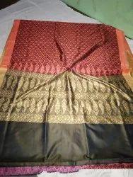 Ibhra Fabrics Festive Wear Banarsi Pashmeena Silk, 6.3 m (with blouse piece)