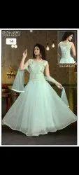 Green Net Wedding Gown, Havy Gownd