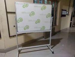 E3 Ceramic Steel White Marker Board With Revolving Stand