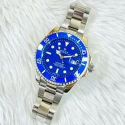 Analog New Rolex Submarina Watches For Men With Metallic Strap, Model Name/ Number: Submarine