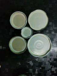 White Metal Twist Off Lug Cap, 38 43 53 58 63 70 82