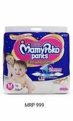 Cotton Disposable Jumbo Pack Mamy Poko Pants, Size: Medium, Age Group: 1-2 Years