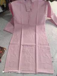 Pink touch Every wear Men S Linen Kurta, Chinese