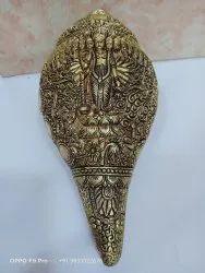 Brass Dashavtar Vishnu Carving Shankh