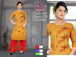 Tuton Rayon Embroidered Siddhi Garment, Size: XL XXL