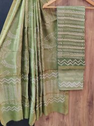 Indiana Unstitched Chanderi Salwar Suit, Dry clean
